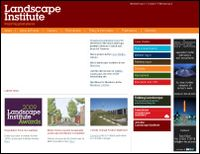 Landscape institute screenshot