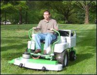 Eco-mow electric ride-on