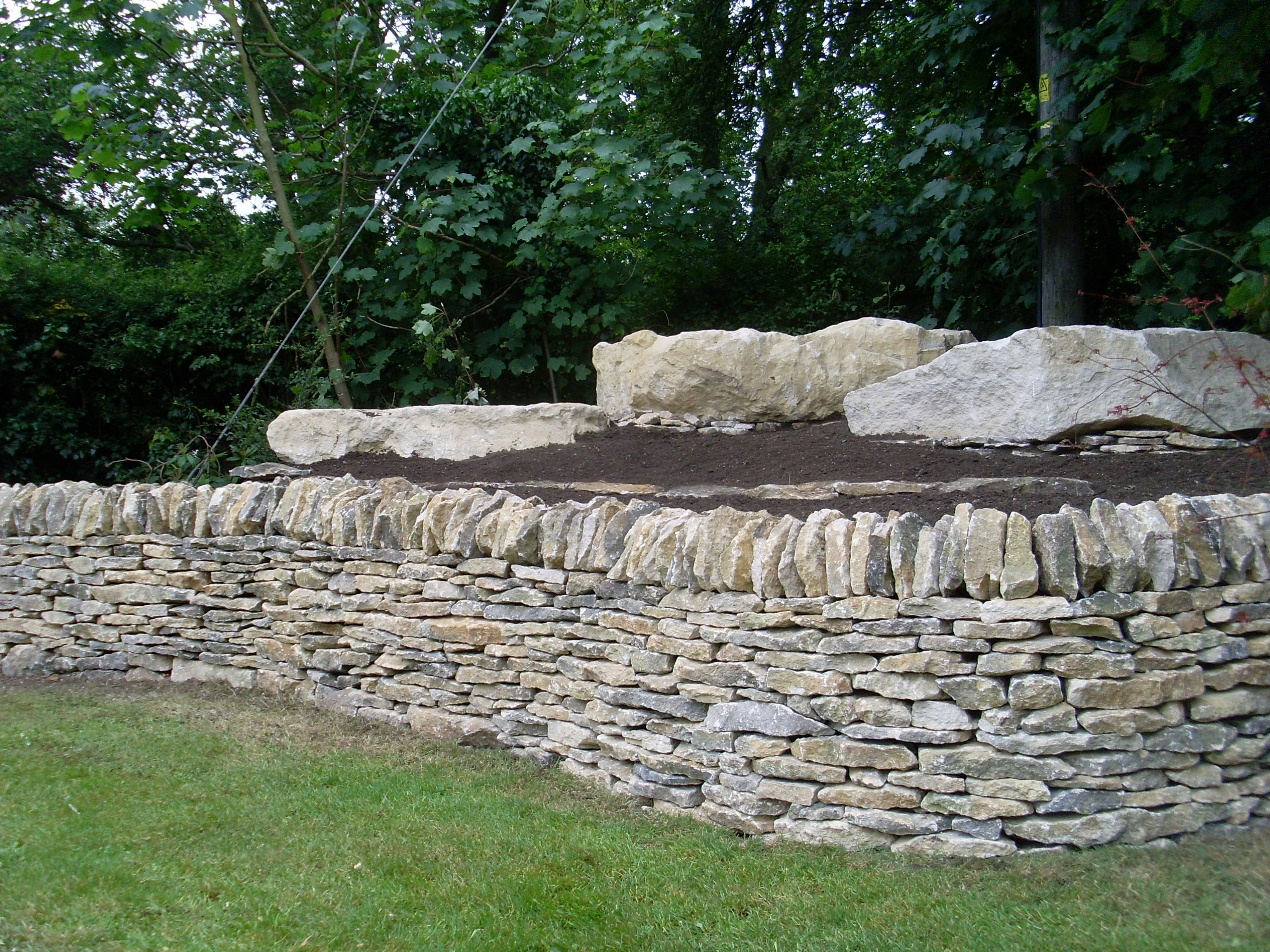 Dry stone walling and garden boulders for sale