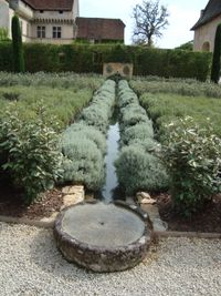 water rill at chateau de losse dordogne