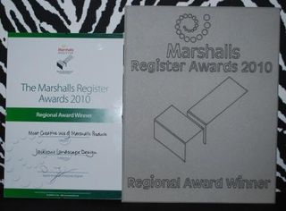 Marshalls Southwest regional award 2010.