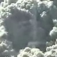 God's face in the smoke after the twin tower has fallen