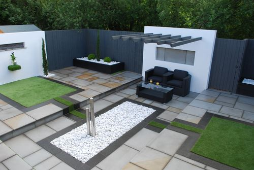 Artificial Grass Garden Designs grass garden design home simple garden design ideas with green grass and bamboo ideas Landscaped Garden In Torquay Devon Artificial