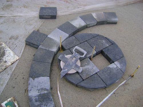 Bespoke circular block paving