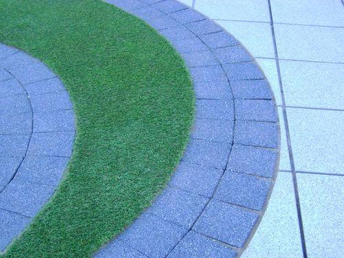 Raduis cuts on paving