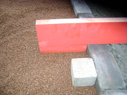 Block paving kerb edge template