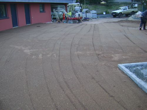 Permeable driveway compaction