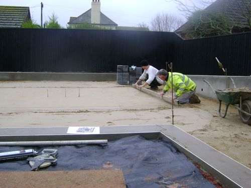 Block paving preparation