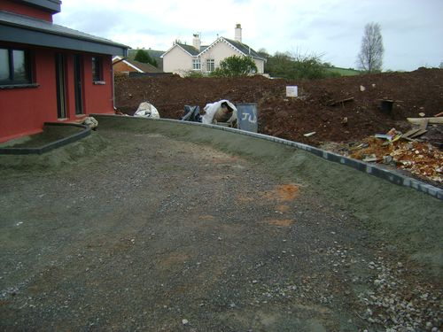 Completed edging kerbs