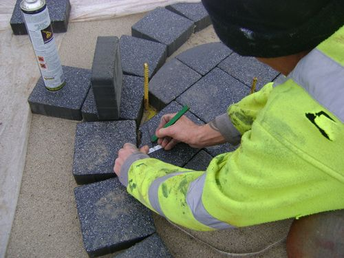 Block paving cut preparation