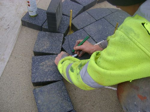 Block preparation for circular cuts