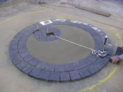 Concrete base for artificial grass