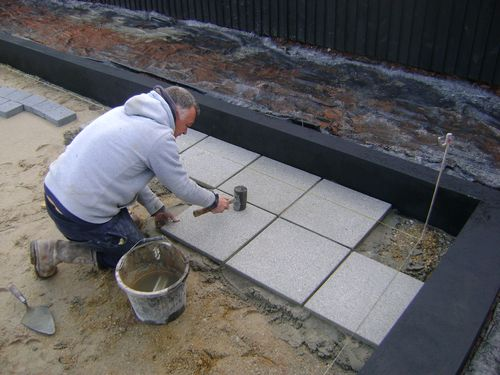 Garden patio paving