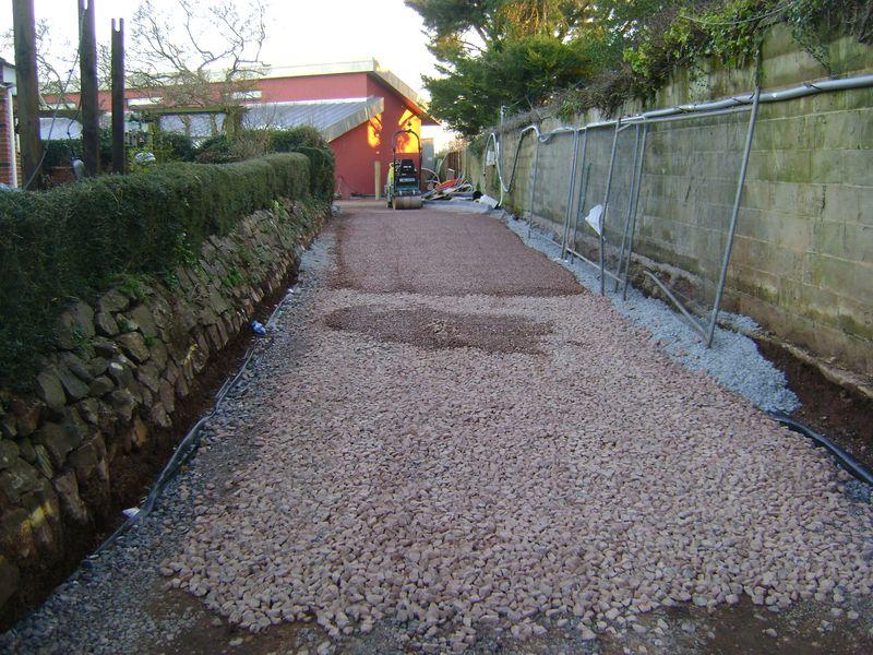 Entrance of permeable driveway Silverton
