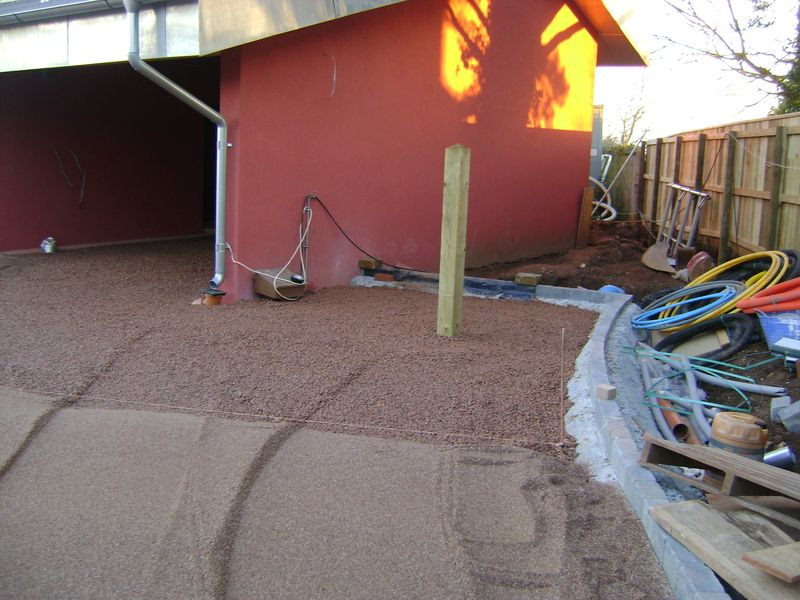 Passive house Tiverton with permeable driveway