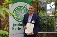 Jez Stamp youn horticulturist of the year 2013