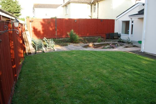 Rear garden Landscaping project Devon