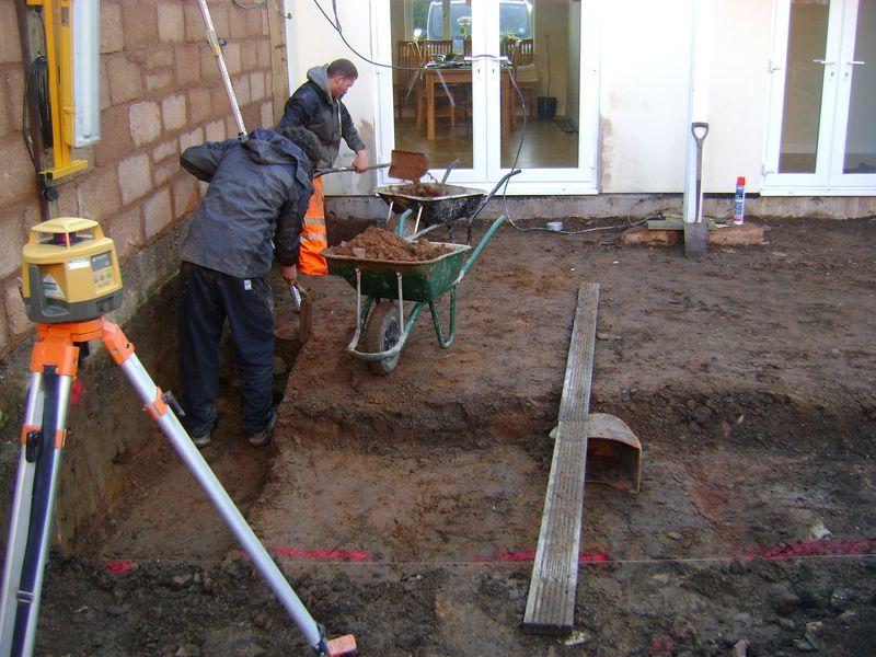Hand dig footings