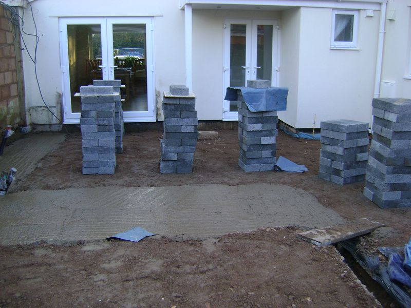 Blocks loaded out
