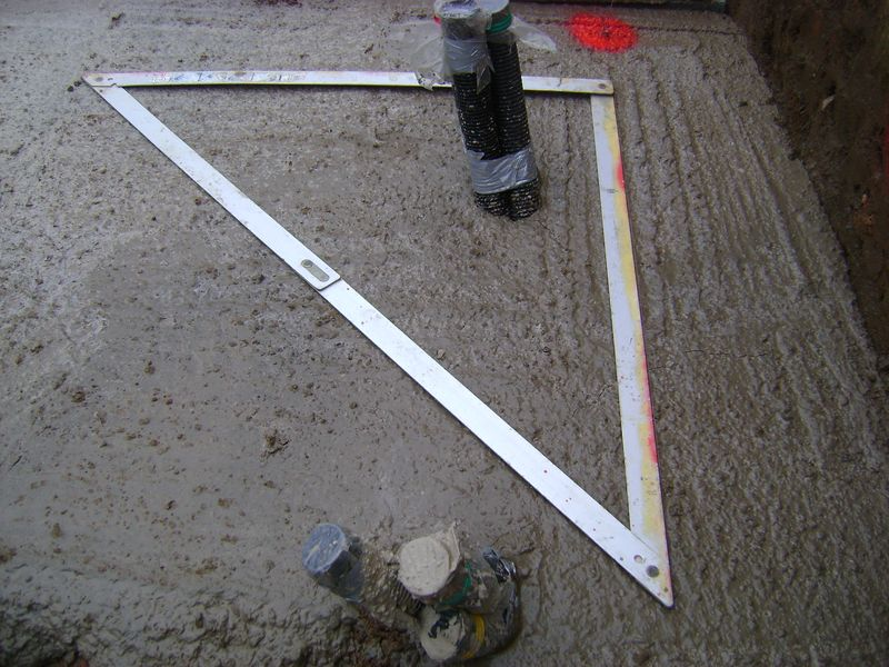 Set square marking out