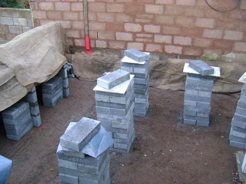 Block work hessian covering