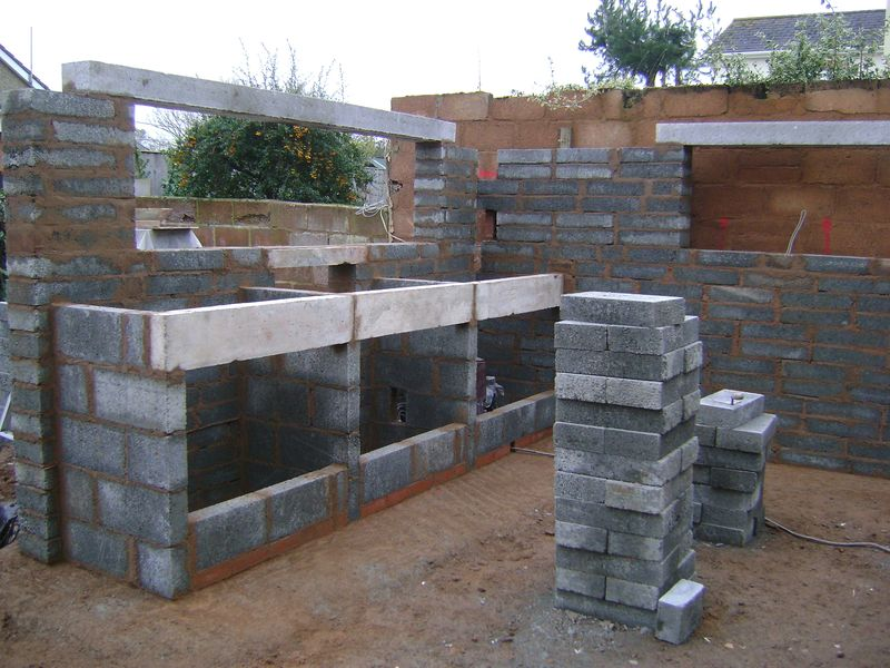 Landscape kitchen garden bespoke wall