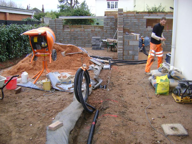 Electric ducting installation