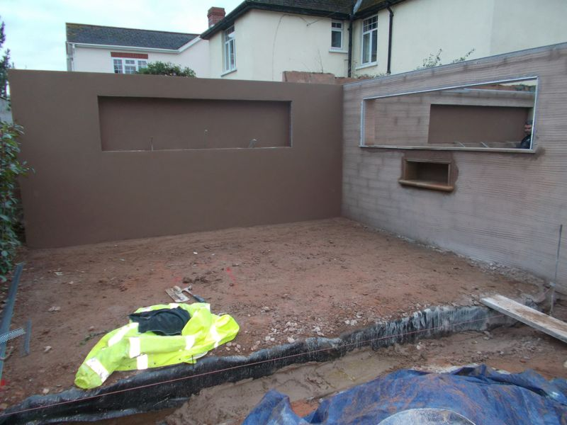 Landscaping garden wall render
