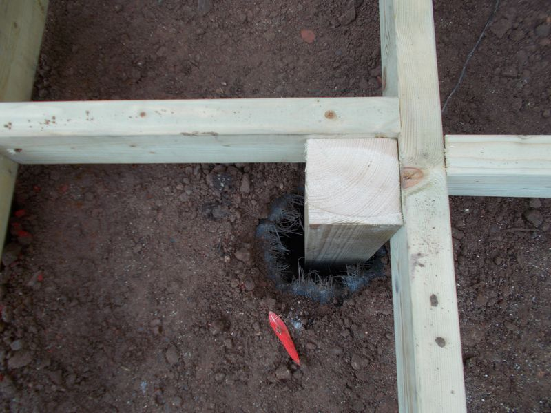 Decking post support