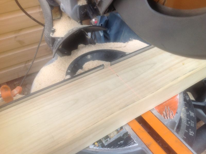 Laser guided timber cuts