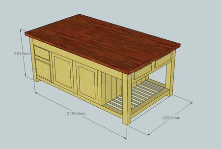 Rustic kitchen island units bespoke rustic kitchen units made to cad drawing island unit workwithnaturefo