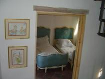 second bedroom with two authentic french beds