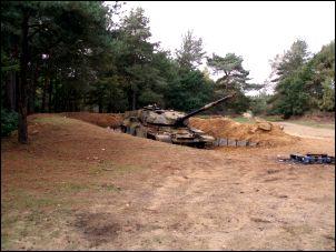 Tank on the longmoor training area near liss hampshire